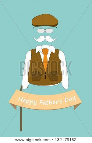 vector illustration of senior man accessories. father's day concepts. eps 10