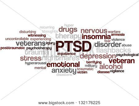 Posttraumatic Stress Disorder - Ptsd, Word Cloud Concept 2