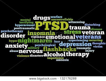 Posttraumatic Stress Disorder - Ptsd, Word Cloud Concept 4