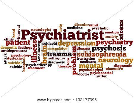 Psychiatrist, Word Cloud Concept 3