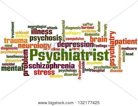 Psychiatrist, Word Cloud Concept 4