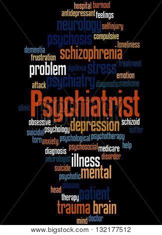 Psychiatrist, Word Cloud Concept 7