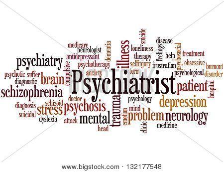 Psychiatrist, Word Cloud Concept 8