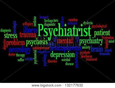 Psychiatrist, Word Cloud Concept 9