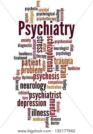 Psychiatry, Word Cloud Concept