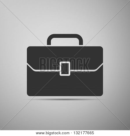 Business case icon on gray background. Vector illustration