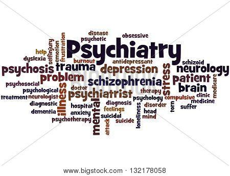 Psychiatry, Word Cloud Concept 7