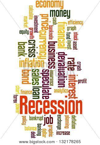 Recession, Word Cloud Concept