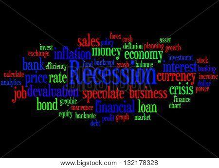 Recession, Word Cloud Concept 2