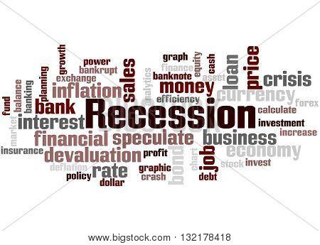Recession, Word Cloud Concept 4