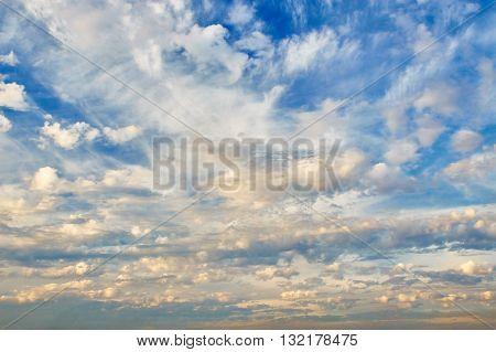 Beautiful Cloudy Evening Sky