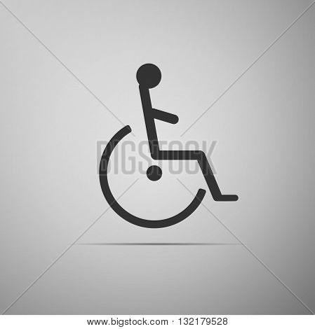 Disabled Handicap Icon on gray background. Vector illustration.