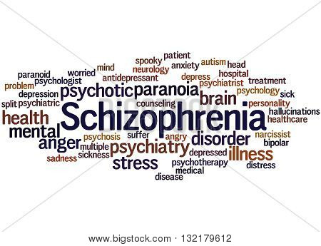 Schizophrenia, Word Cloud Concept 4