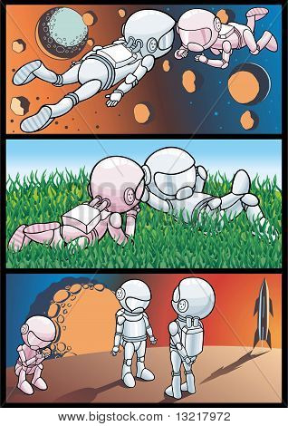 Cosmos And Astronauts
