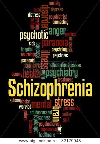 Schizophrenia, Word Cloud Concept 8