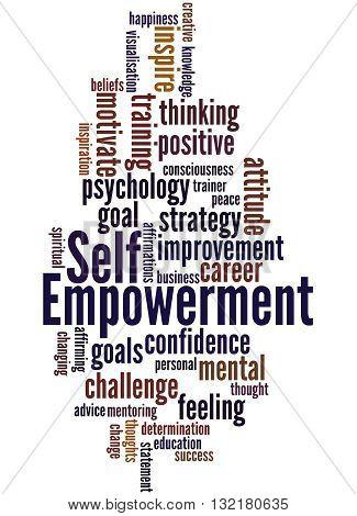 Self Empowerment, Word Cloud Concept 6