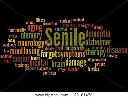 Senile, Word Cloud Concept 7