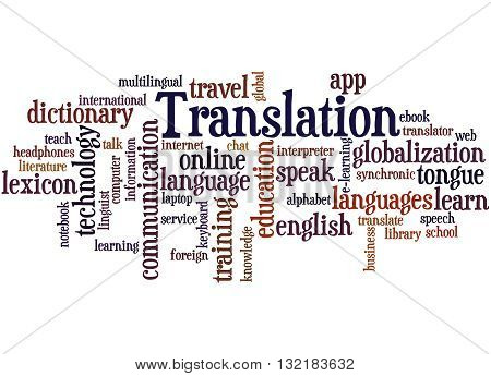 Translation, Word Cloud Concept