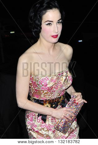 FRANCE, CANNES - MAY 18, 2009: Dita Von Teese seen out and about taken in a public area in Cannes
