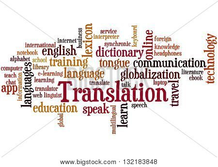 Translation, Word Cloud Concept 4