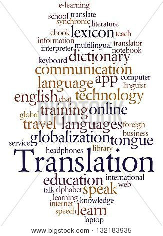 Translation, Word Cloud Concept 5