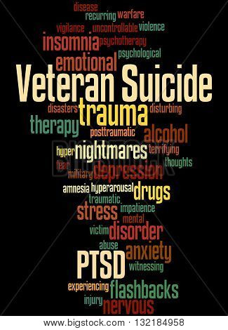 Veteran Suicide, Word Cloud Concept 3