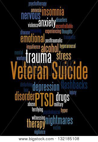 Veteran Suicide, Word Cloud Concept 6