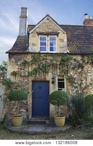 Old house in the pretty village of Lacock in Wiltshire UK
