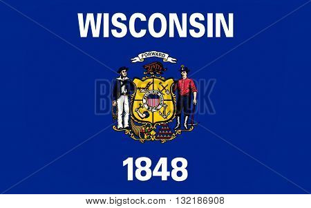 Flag of Wisconsin is a U.S. state located in the north-central United States in the Midwest and Great Lakes regions