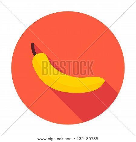 Banana Flat Circle Icon