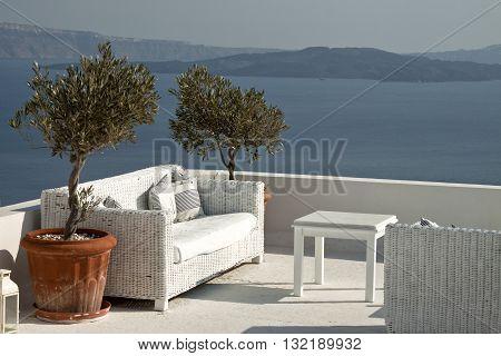 Santorini is an island in the southern Aegean Sea, Greece.