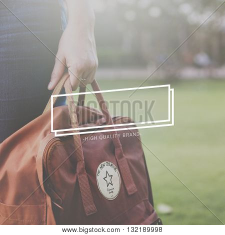 Female Bag Outdoors Banner Graphic Concept