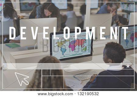 Development Solution Vision Innovation Progress Concept