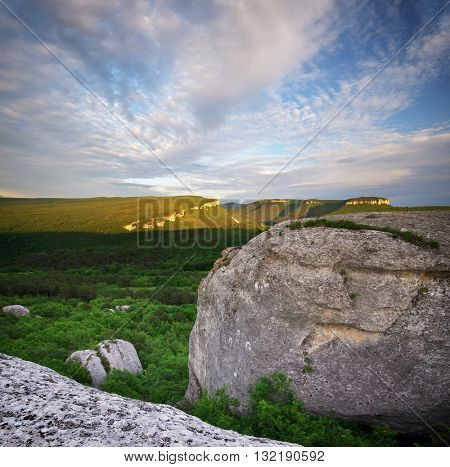 Mountain nature panorama landscape. Composition of nature.