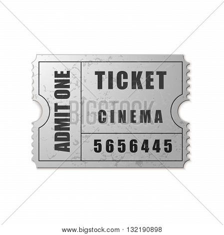 Vector Admit One ticket icon isolated on white background. Vector Illustration. EPS10