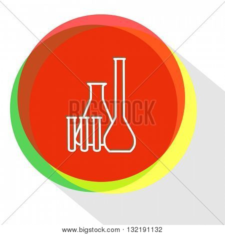 chemical test tubes. Internet template. Vector icon.