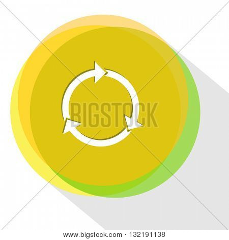 recycle symbol. Internet template. Vector icon.