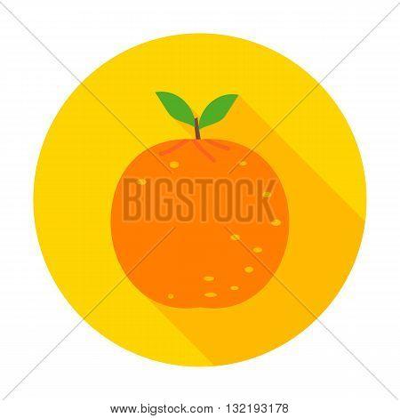 Orange Flat Circle Icon