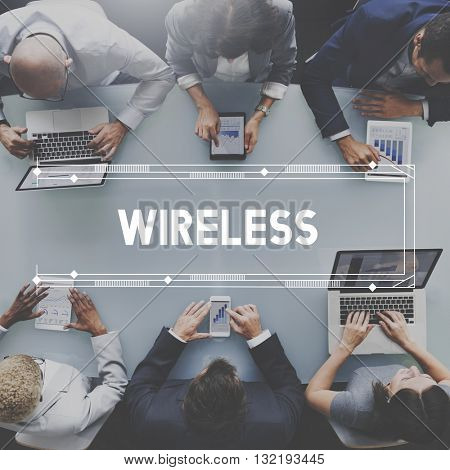 Wireless Network Technology Graphic Concept
