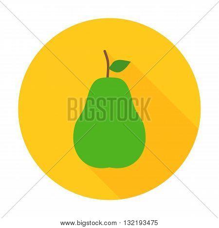 Pear Flat Circle Icon