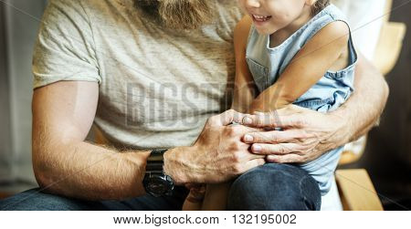 Daughter Kid Girl Leisure Father Adolescence Concept