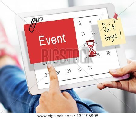 Event Schedule Occasion Planner Reminder Concept