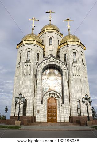 Temple of All Saints on a burial mound, city Volgograd, Russia