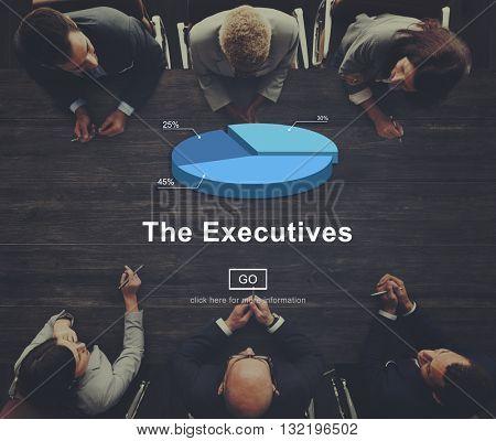 Executive Boardroom Business Colleague Concept