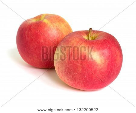 Two apple fruit on white background  isolated