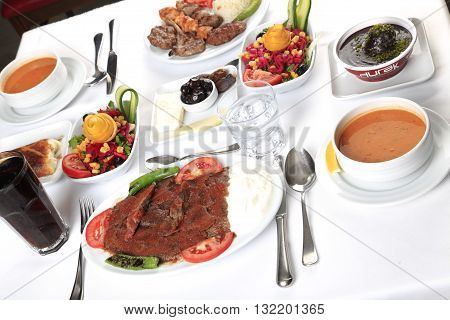 Delicius Food And Turkish Special Kebab with soup