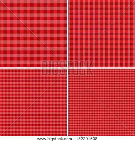Red and white popular background for picnics