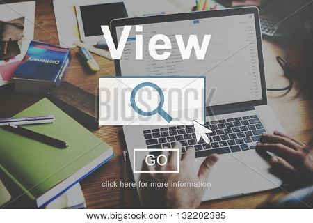 View Research Searching Information Concept