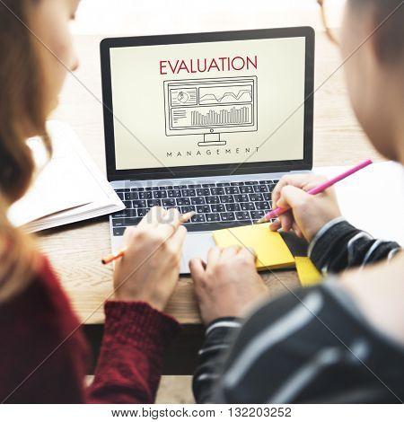 Business Evaluation Decision Estimate Strategy Concept