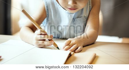 Painting Offspring Activity Casual Girl Imagination Concept